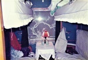 Gemütliches Abteil im Nachtzug